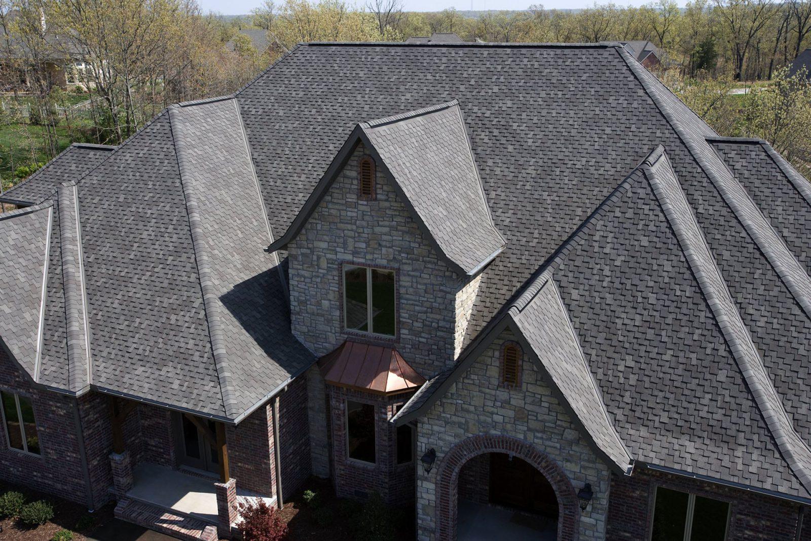 brick gray house